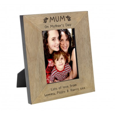 Mum on Mother's Day Wood Frame 6x4