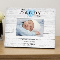 New Daddy personalised photo frame