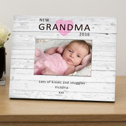 New Grandma personalised photo frame