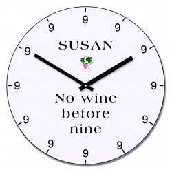 No wine before nine wall clock
