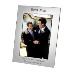 Silver Plated Frame Best Man 7x5