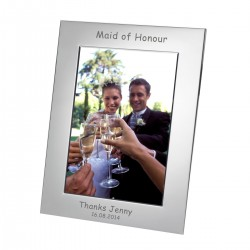 Silver Plated Frame Maid of Honour 7x5