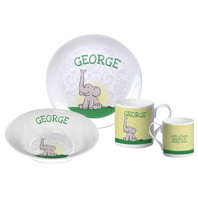 Baby Boy Elephant breakfast set