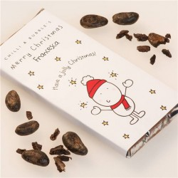 Personalised Chilli and Bubbles Christmas Chocolate Bar