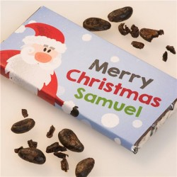 Personalised Christmas Chocolate Bar - Santa