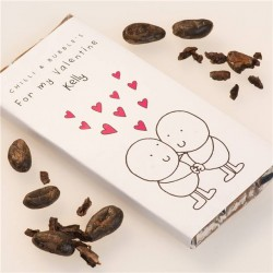 Personalised Chilli and Bubbles Valentines Chocolate Bar