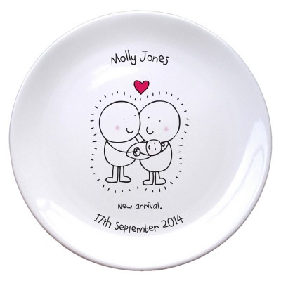 Chilli & Bubble's New Baby Plate