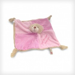 28cm Pink Bear Baby's First Blanket/Comforter