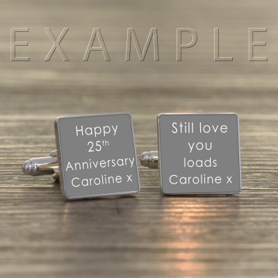 Any Message Personalised Cufflinks