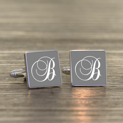 Initial Cufflinks - Coloured
