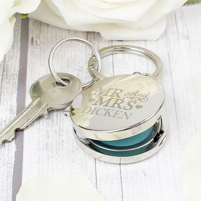Mr and Mrs Photo Keyring Personalised