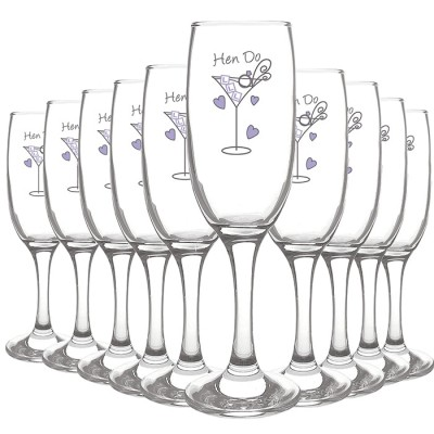 Personalised Hen Do Toast Flute Pack of 10