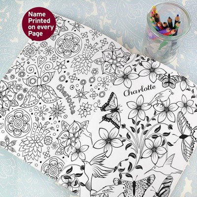 Botanical Colouring Book Personalised