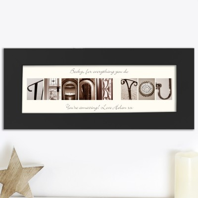 Personalised Affection Art Message Frame