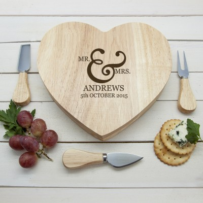 Couples' Romantic Heart Cheese Board