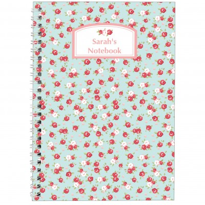 Personalised Floral A5 Notebook