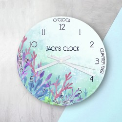 Personalised Sealife Glass Clock
