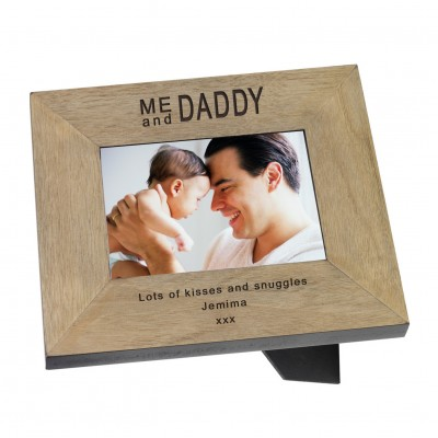 Me & Daddy Wood Frame 7x5