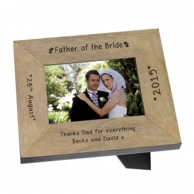 Father of the Bride Wood Frame 6x4