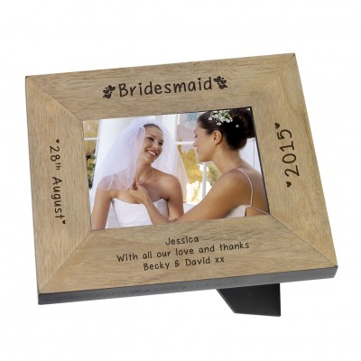 Bridesmaid Wood Frame 7x5